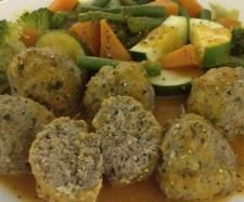 Turkey and Spinach Balls with Tomato Sauce and Steamed Vegetables | Official Thermomix Recipe Community