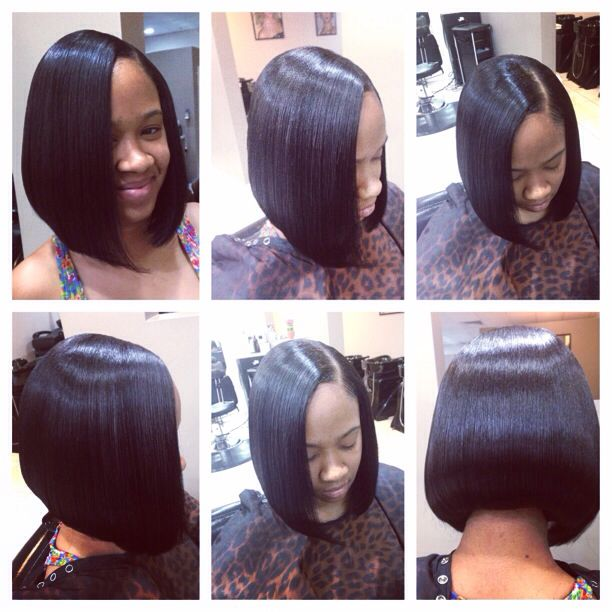 Quick weave bob Action !!!!
