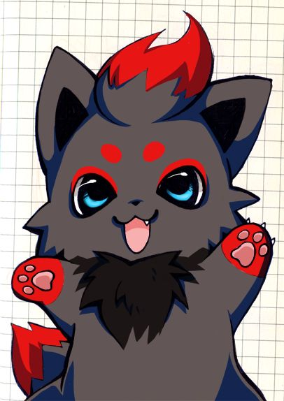 My First Zorua By Kuroizorua Deviantart Com On Deviantart