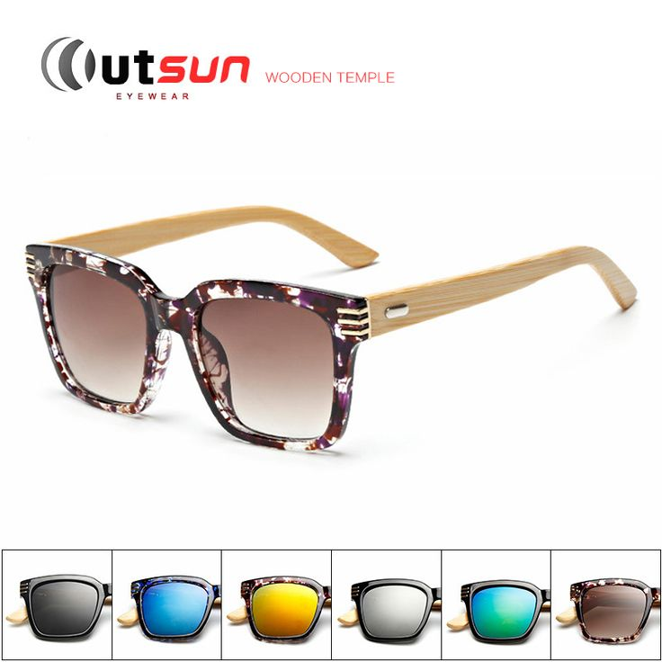 OUTSUN Bamboo Sunglasses Men Wood Leg Oculos De Sol Masculino Wooden Sunglasses Women Brand Designer Gafas Madera De Sol OS1518