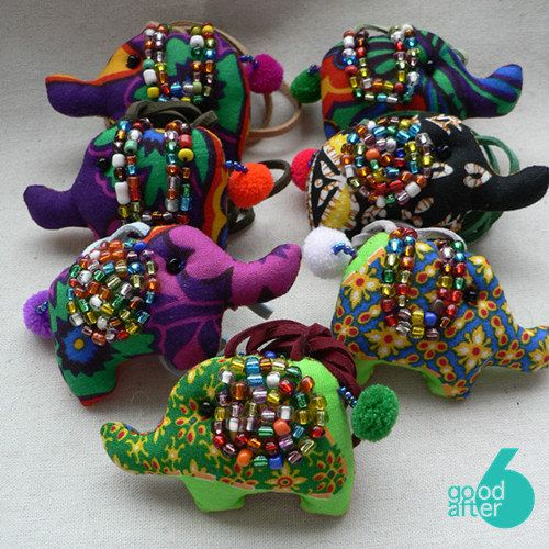 Handmade cotton stuffed animal pattern kawaii animal elephant bling bling necklace accessories ready to ship