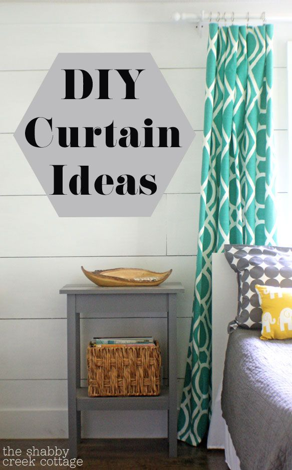 DIY Curtains (love the color scheme too)