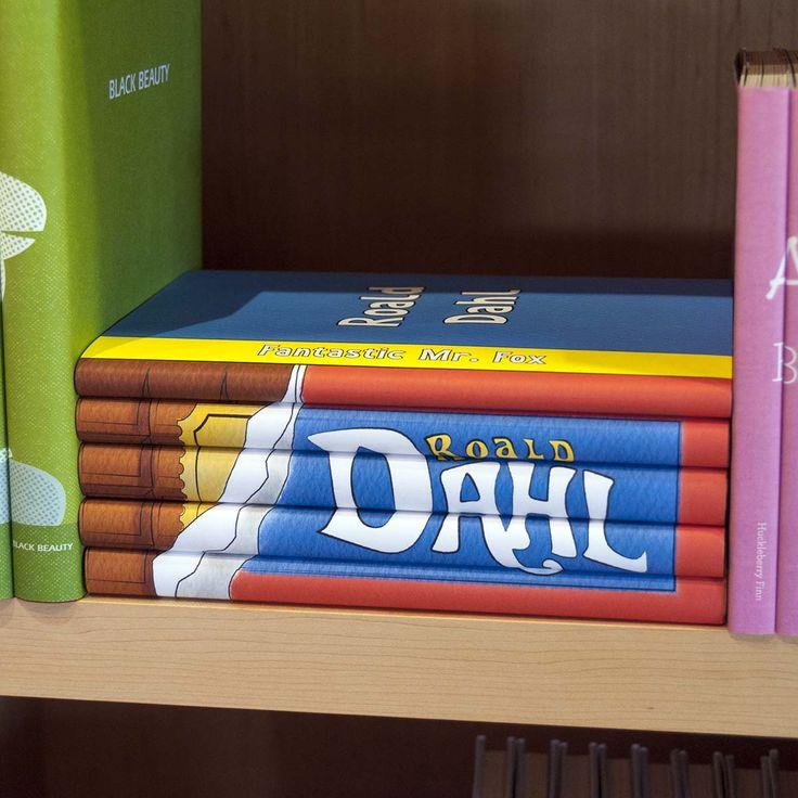 Roald Dahl Golden Ticket Set on a shelf!