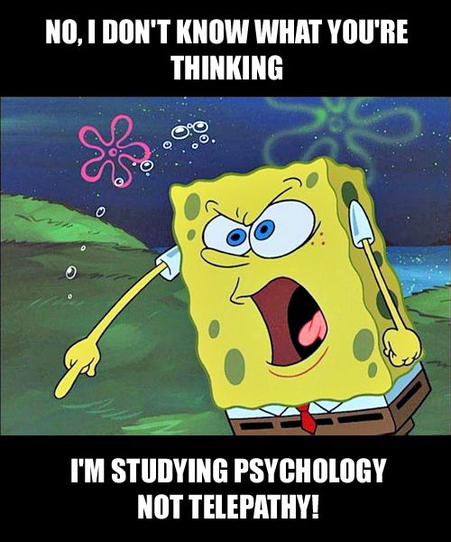 Angry Spongebob Meme. The psychology student version. For more psychology humor visit: www.pinterest.com/psychology/psychology-memes/  #psychology #PsychologyMeme #PsychologyHumor #PsychologyStudent