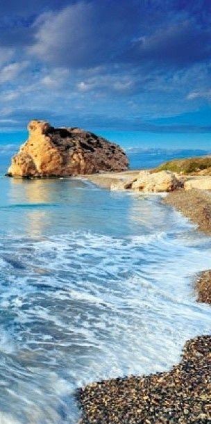 Petra tou Romiou (Rock of the Greek or Aphrodite's Rock) in Paphos, Cyprus • photo: Coral Sun Villas
