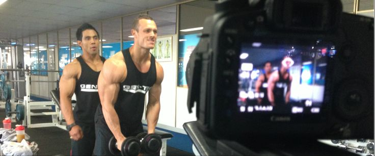 Filming the behind the scenes of an #IronMan Magazine Australia cover shoot, with world-class #bodybuilders thanks to Gen-Tec #nutrition, in #Melbourne.