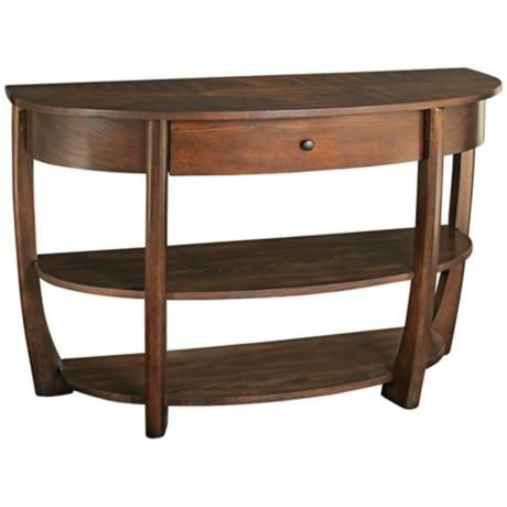 hammary concierge wooden console table