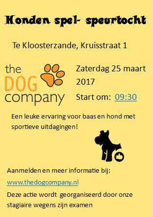 Honden Spel- en Speurtocht op zaterdag 25 maart 2017 -