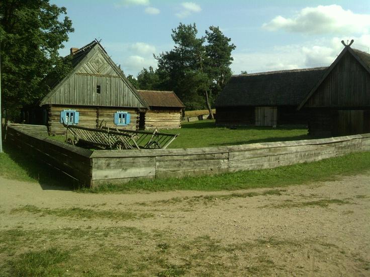 Open-air museum of folk architecture in Olsztynek near Wiatraki