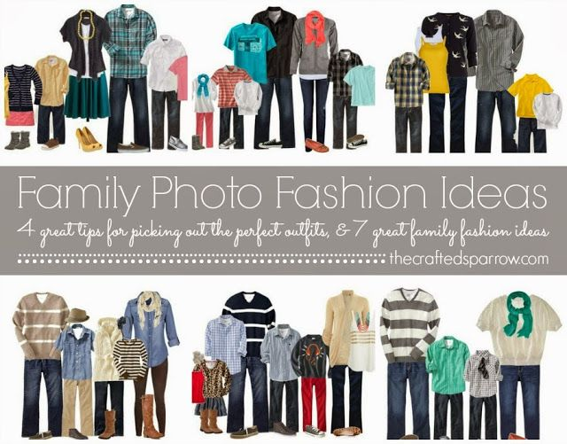 Family Photo Fashions, picking the best look for your Family pictures! thecraftedsparrow.com