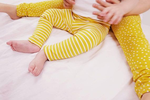 Check out this item in my Etsy shop https://www.etsy.com/uk/listing/562035409/organic-leggings-yellow-white-stripe