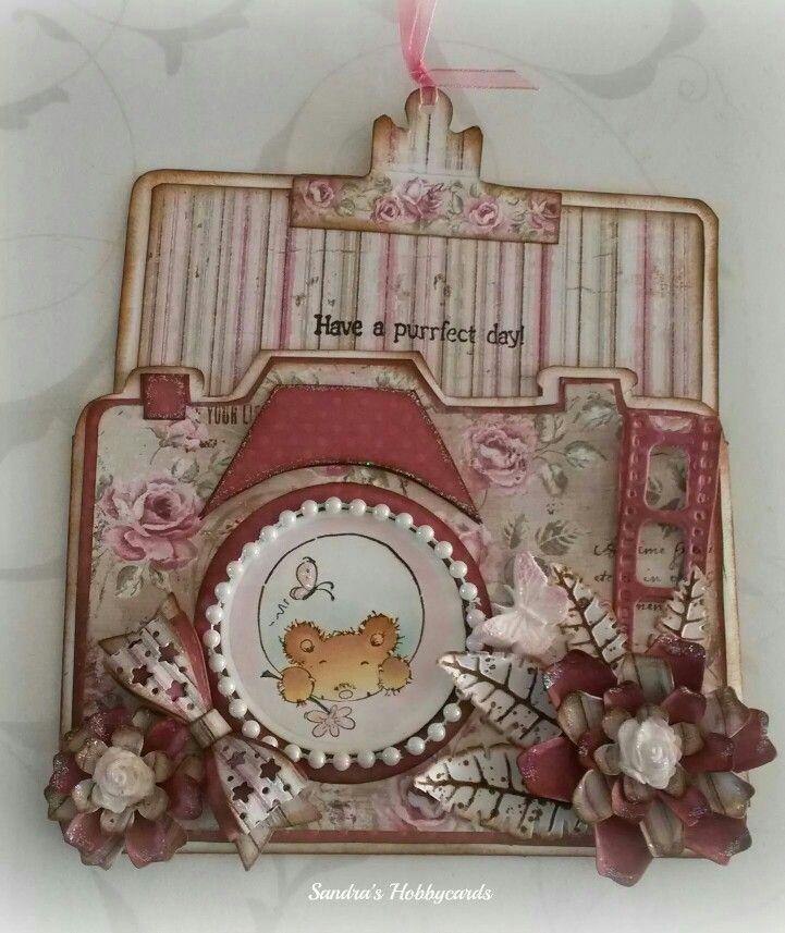 dutch Doobadoo Card Art Camera Door Sandra