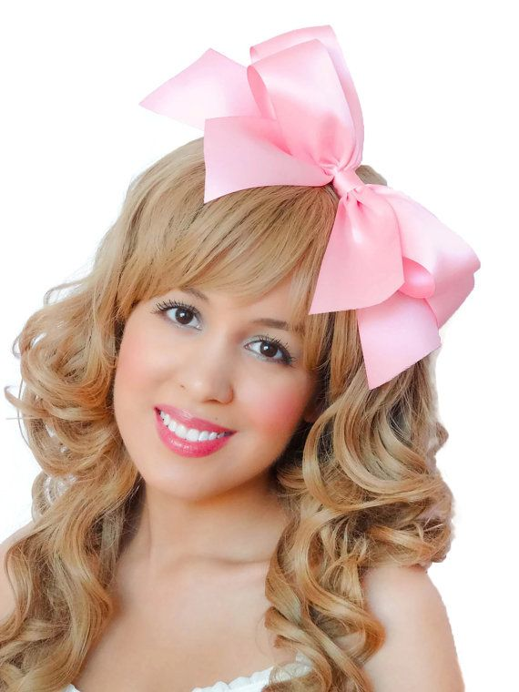 Pink+Hair+Bow+Clip+Light+Pink+Hair+Bow+Baby+Pink+Hair+by ...
