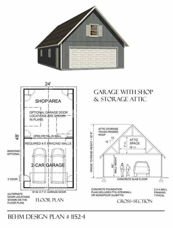 25 best images about garage plans on pinterest craftsman Workshop garage plans