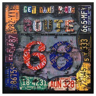 Route 66 wall art is beautiful and full of  history.  Route 66 wall décor looks the  best in offices, man caves, kitchens and living rooms.  Plus Route 66 wall décor can be used with all  types of home décor themes from rustic, cabin, country, contemporary and Victorian.  #Route66       Oriental Furniture Route 66 Canvas Wall Art