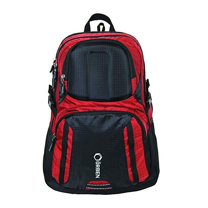 7389fba3f72b Orben Travel Backpack Spacious With Protective Compartment - Red ...