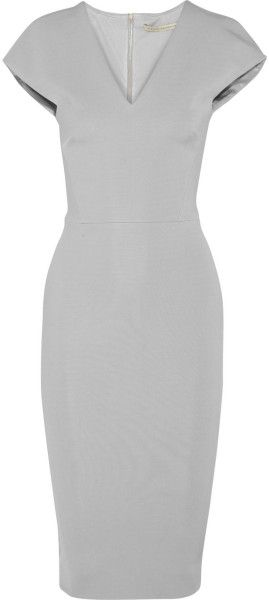 VICTORIA BECKHAM Stretch satin Crepe Dress - DRESSMESWEETIEDARLING