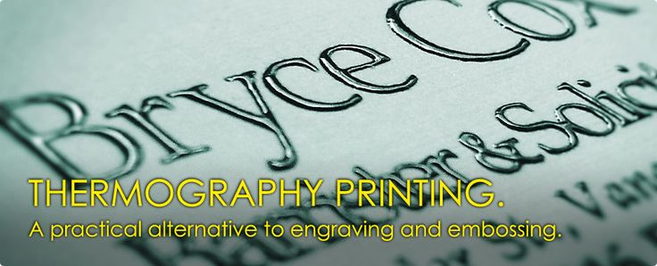 What is Thermography Printing?