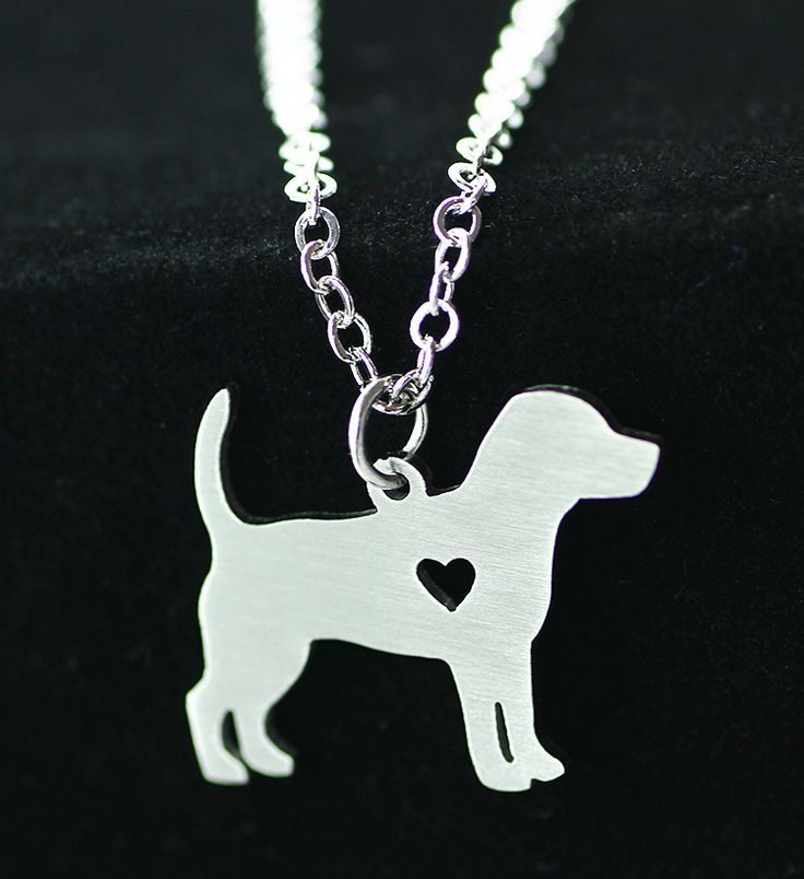 2016 Simple fashion sweater chain pendant necklace pet beagle dogs Dog tag necklace stainless steel animal necklace