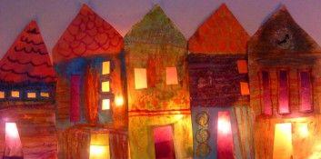 Thème de Noël - Carte de voeux - Maisons illuminées - Il neige! - Marché de Noël... - Quelques idées en… - L'Art de rien...