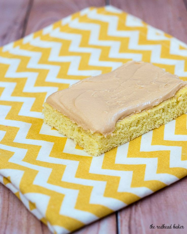 Butterscotch Krimpets are sponge cakes topped with butterscotch frosting. They originated in Philadelphia, and are a local institution! #SundaySupper The RedheadBaker.com