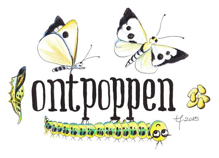 Ontpoppen. Van rups naar vlinder. www.tanjahilgers.nl