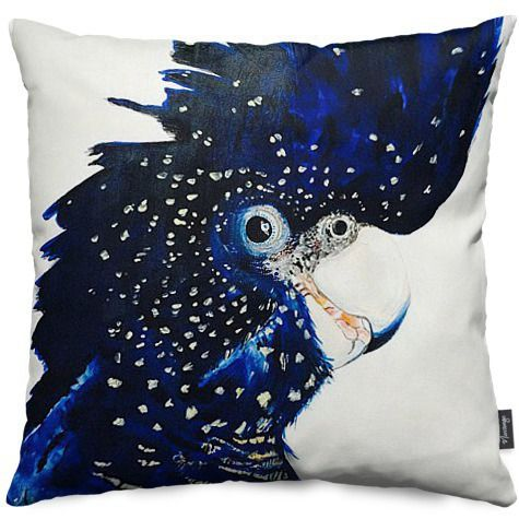 Black Cockatoo Throw Pillows by Heylie Morris | Nuvango