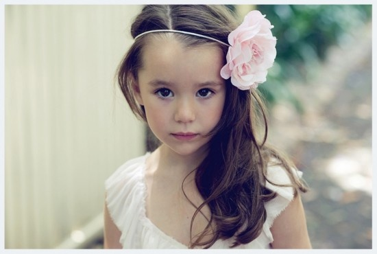 flower headpiece via Tea Princess Flowergirl Shoot / Wedding Style Inspiration / LANE