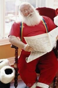E Santa Checking The News