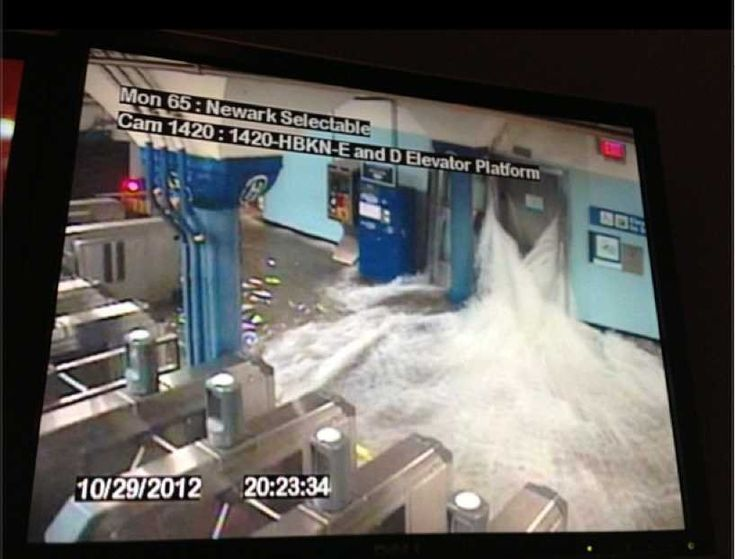 Images of NYC in the wake of Hurricane Sandy - Path Station Floods