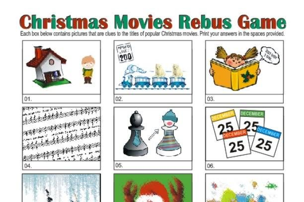 Christmas Rebus Puzzles With Answers.Christmas Picture Puzzle Game Rebus Puzzles Picture
