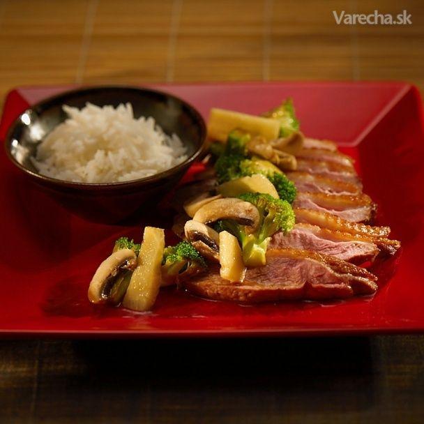 Medová kačica so zeleninou - Recept