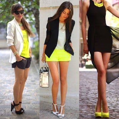outfit blusa naranja neon - Buscar con Google