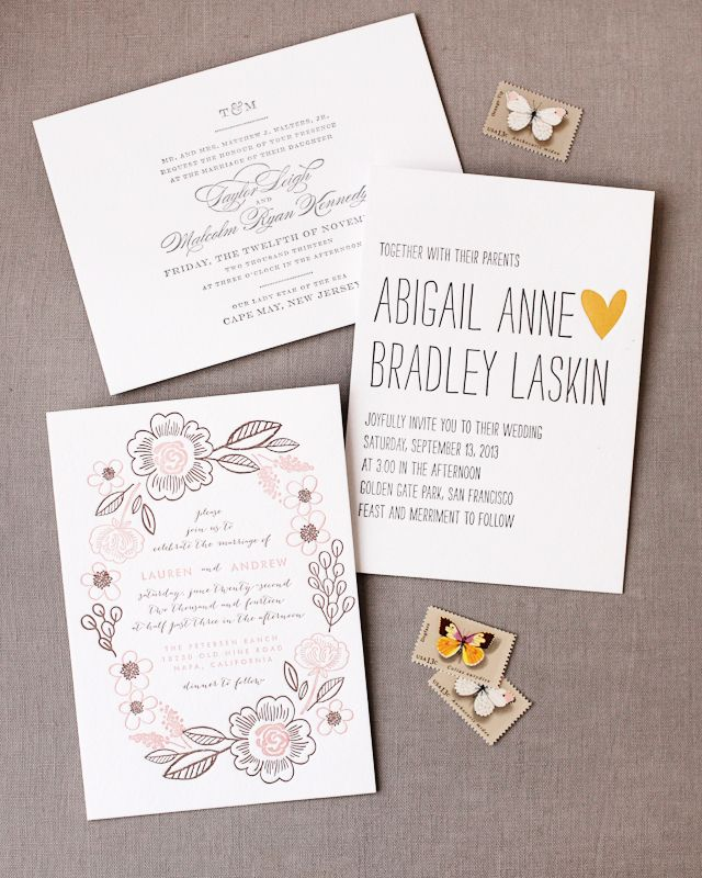 letterpress wedding invites london%0A Letterpress wedding invitations by Minted