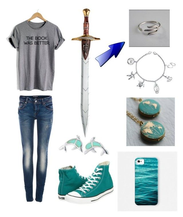 """Daughter of Poseidon"" by cjandersonhaley on Polyvore featuring Converse, Pull&Bear, WithChic, Samsung and Belk Silverworks"