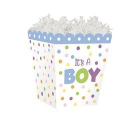"""Sweet Treat Box """"It's A Boy"""" 4"""" x 4"""" x 4½""""-45306"""