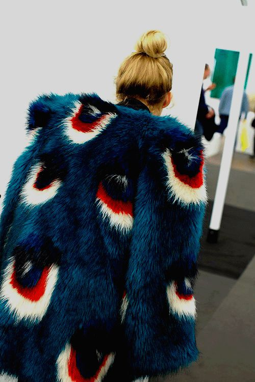 Evil eyes fur coat
