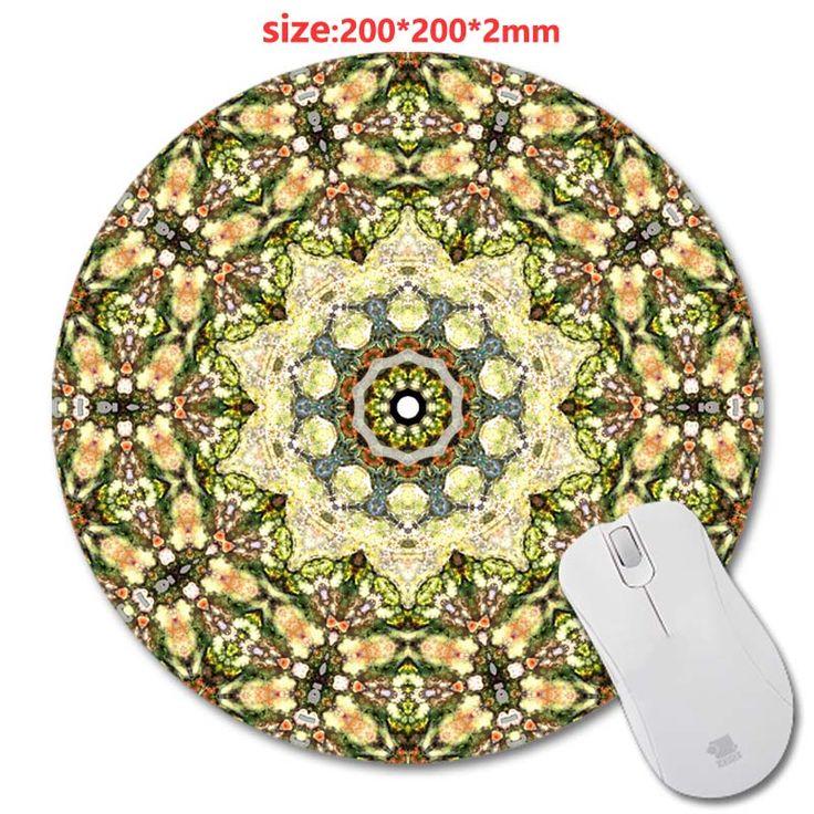 Wholesale DYI Circular Persian Carpet 200*200*2mm Design Print Round Mouse  Pad Antiskid
