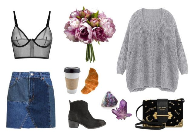 """""""spring coming"""" by alenaganzhela on Polyvore featuring мода, Billabong, Prada, Topshop и OUTRAGE"""