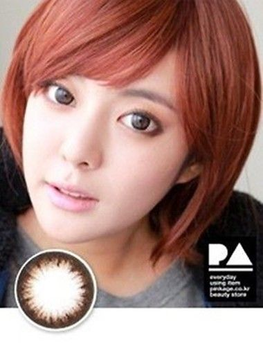 [GLAM EYE] AMY BROWN - COLOR CONTACT CIRCLE LENS [NON PRESCRIPTION LENSES] No.08674