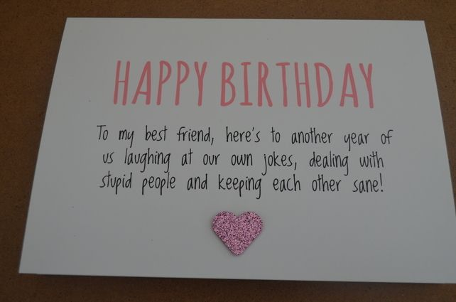 Humourous Best Friend Birthday Card £1.99