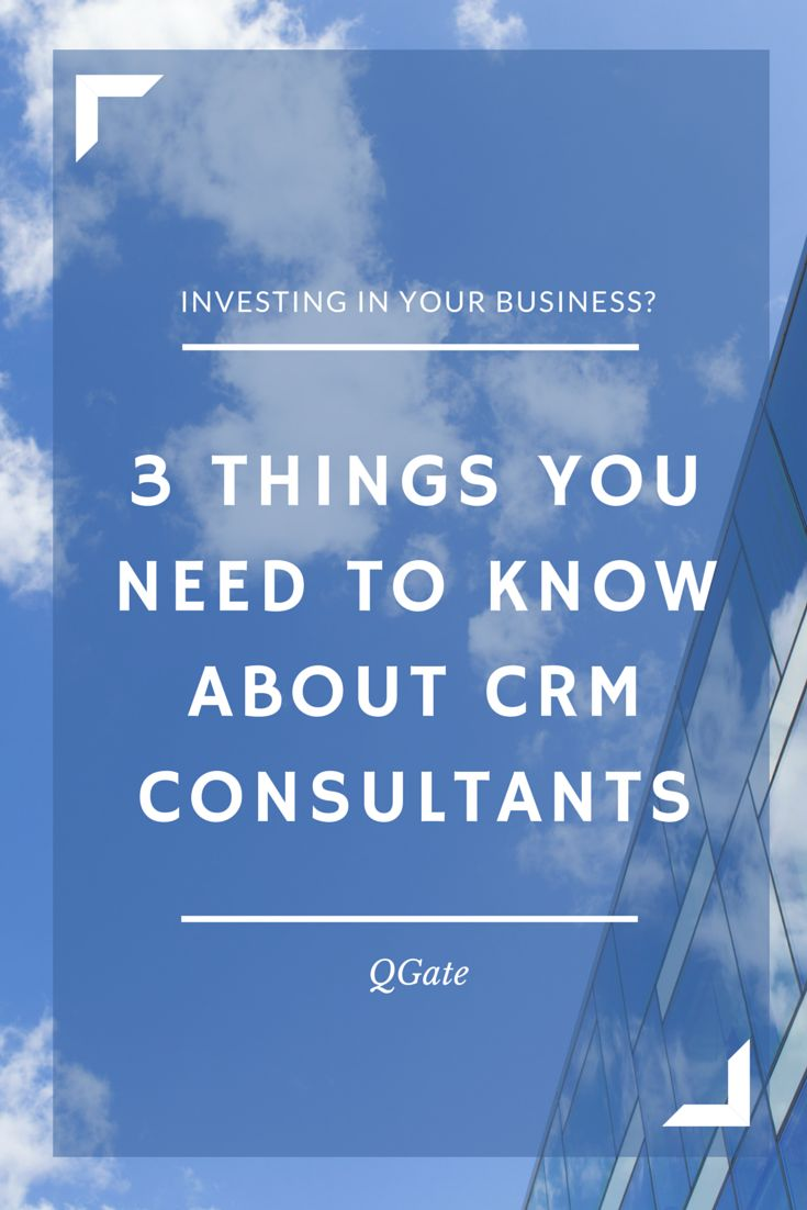 Before you decide to partner with a #CRM consultant on your implementation, there are a few things you'll want to know. #sales #operations #technology