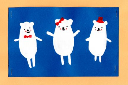 An easy way to paint cute polar bears for kids.