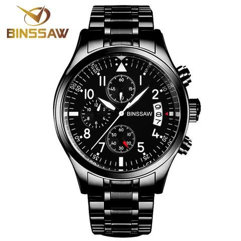 BINSSAW Full Steel Watch - Shop With Bitcoin