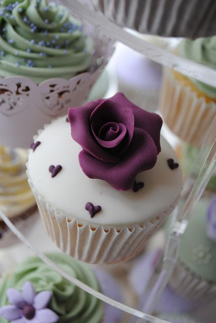 Purple Flower Cupcake
