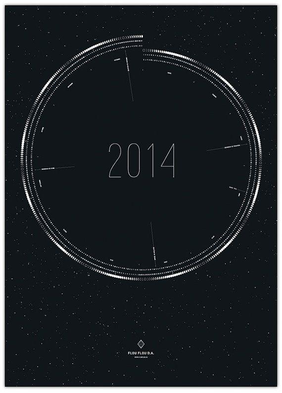 2014 Moon Calendar.............. by Maribel Martinelli on Etsy