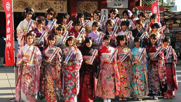 26 integrantes celebran el Seijin no hi