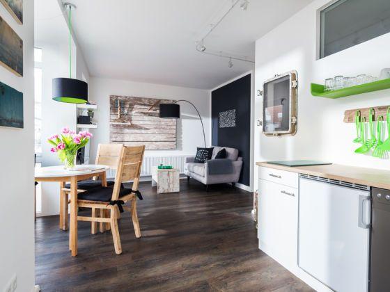 Inspirational Wohnzimmer mit K che und Essecke