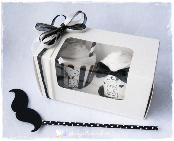 Cadeau de naissance body cupcakes Snoopy