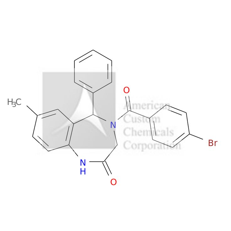 4-(4-BROMOBENZOYL)-7-METHYL-5-PHENYL-3,5-DIHYDRO-1H-1,4-BENZODIAZEPIN-2-ONE is now  available at ACC Corporation
